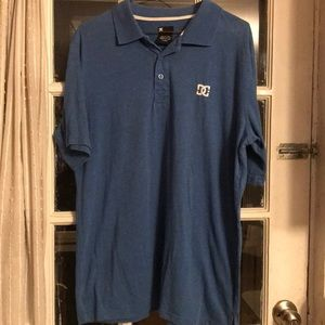 DC blue short sleeve polo